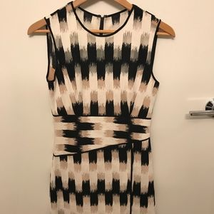 BCBGMAXAZRIA Asymmetrical Hem Mini Dress